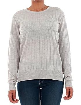 Jersey Vero Moda Mujer Gris claro 10193164 VMSIKA LS O-NECK BLOUSE NOOS - LIGHT GREY MELANGE