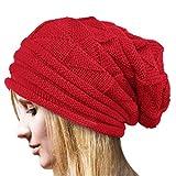 Strickmützen Damen Hüte Winter Mütze Warm Caps Von Xinan (❤️, Rot)