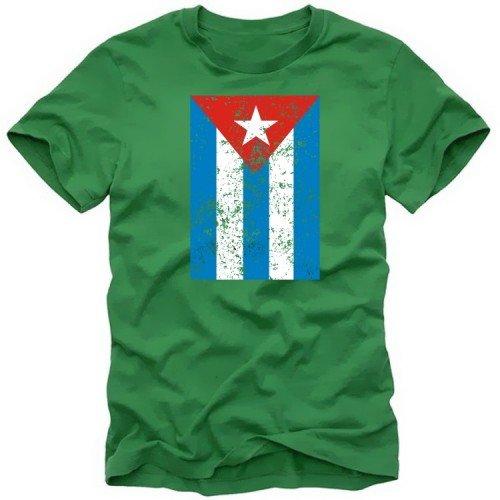 Preisvergleich Produktbild CUBA VINTAGE - Kuba Libre T-shirt - T-Shirt, Green Gr.L