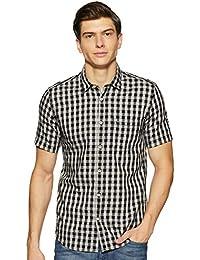 Indigo Nation Men's Checkered Slim Fit Casual Shirt