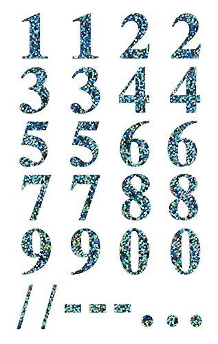 Preisvergleich Produktbild Avery Zweckform 59159 Zahlen Etiketten 0-9 16 mm (Folie, starker Halt) 56 Aufkleber