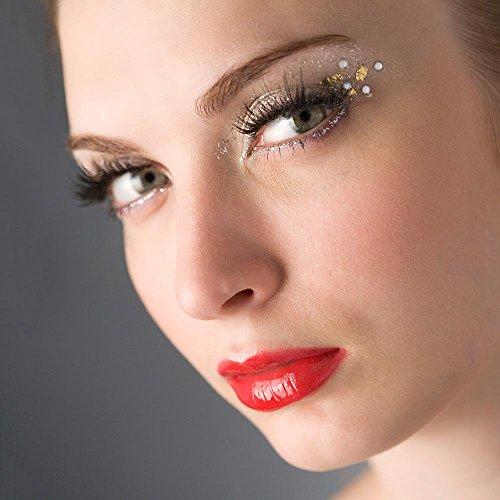 Pawaca 4pcs magnetico ciglia finte creative riutilizzabile senza bisogno di colla 3D morbida con ciglia finte, donne cosmetici per ragazze donne occhio decorazione