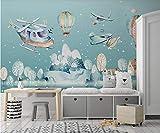Disegnata a mano cartoon mongolfiera camera dei bambini sfondo 430cmx300cm Carte da parati non tessute/Murales/Sfondi per foto/Coperture per pareti/Pitture murali/Poster personalizzati/Dec