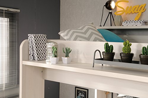 Wohnorama 90×200 Hochbett inkl integrierter Schreibtisch u Schrank Higher 1a von Parisot Nordische Esche by