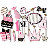 Generic Party Propz Girls 1St Birthday Photobooth Set Of 15