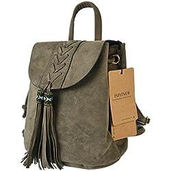 ISIYINER Fashion Bohemian Rucksack mit ethnischen Stickerei Design Daypack Rucksack Casual School Rucksack für Mädchen und Frauen