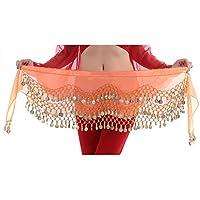 Hee Grand 3 filas danza del vientre baile Hip bufanda falda cinturón con ...
