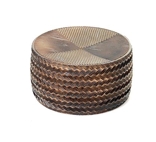 Queso Manchego curado de plástico de 18.5 cm de diámetro