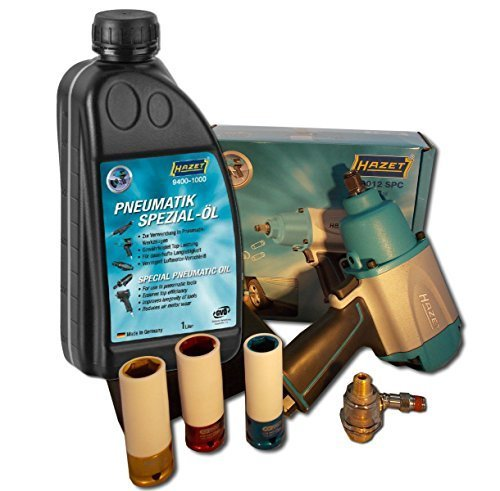 Preisvergleich Produktbild Hazet Schlagschrauber 9012 SPC + Öler + 3 Schlagschraubernüsse 17, 19, 21 + 1 Liter Öl