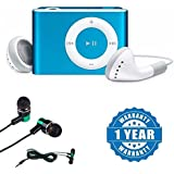 Drumstone IPod Clip MP3 Player With Stylish Design With Earphone With Mic, Handsfree Headset With Deep Bass And Music Equalizer Compatible With Xiaomi, Lenovo, Apple, Samsung, Sony, Oppo, Gionee, Vivo Smartphones (One Year Warranty)
