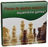 Aquamarine Games - Fichas de ajedrez Staunton 4 (CP029A)
