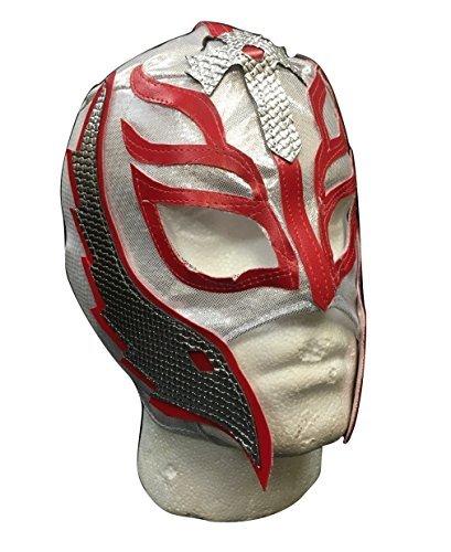 UK Halloween Karneval Cosplay Silber Wrestling Rey Mysterio Son of the Devil Reißverschluss - Kinder Voller Kopf Maske - Kostüm verkleiden Outfit Wwe Party (Wwe Halloween-kostüme Für Kinder)