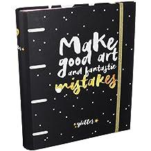 Grupo Erik Editores Glitter Stars - Carpeblock con 4 anillas, 32 x 27.5 cm