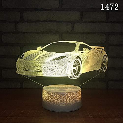 Auto Nachtlicht 2019 neue kreative USB-Tischlampe Nachttischlampe Touch Farbe Atmosphäre Nachtlicht Auto Nachtlicht, 1472, bunte Riss: Touch - 1472/3 Auto
