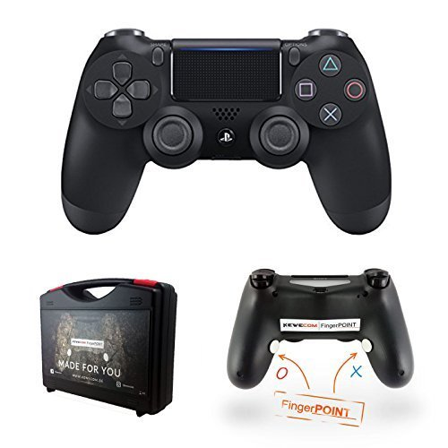 Controller Gaming Scuf (Kewecom Playstation 4 FingerPOINT Ps4 Scuf Controller - Schwarz Matt V2 (2016) - PREMIUM Pack Edition)