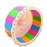 Dylandy Hamster Wheel Silent spinner Hamster Exercise jogging running giocattolo di plastica disco volante ruota per piccoli animali Nano Rat Gerbils Mice scoiattolo Guinea Pig (colorato)