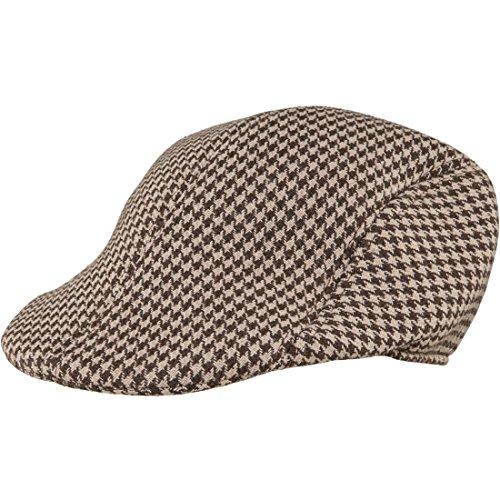 Karierte Schiebermütze Britische Mütze 20er Jahre Kappe Englische Schirmmütze Gatsby Tweed Cape Herren Flatcap Golfmütze Karnevalskostüme Accessoires