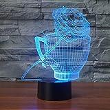 Optische Täuschung 3D Tasse Rose Nacht Licht 7 Farben Andern Sich USB Adapter Touch Schalter Dekor Lampe LED Lampe Tisch Kinder Brithday weihnachten Geschenk