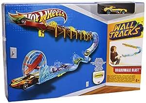 Hot Wheels - W3428 - Circuit de Voiture - Wall Tracks - Propulsion Plongeon