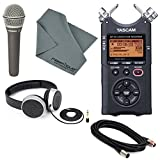 Tascam DR-40 4-Track Handheld Digital Audio Recorder with Deluxe Accessory Bundle