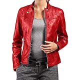 PriceRight Women's Lambskin Leather Jacket | Black Leather Jacket | Handmade Leather Jacket | Women Biker Jackets
