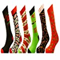 6 Pairs of Mens or Ladies Festive Christmas Socks - Christmas Novelty Xmas Socks - Ideal Stocking Filler : everything £5 (or less!)