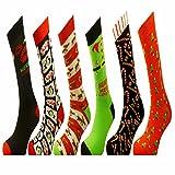 6Paar festliche Weihnachtssocken für Herren oder Damen, Weihnachtssocken, ideal als kleines Weihnachtsgeschenk