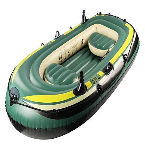 BAIJ Explorer 300, aufblasbares Fischerboot 3 Person, umweltfreundliches PVC, ausgestattet mit Einer Fußpumpe und einem Paar Paddeln