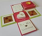 Quillartz - Idea regalo perfetta per San Valentino, a forma di cubo 3D, realizzata a mano, 10,16 x 10,16 cm