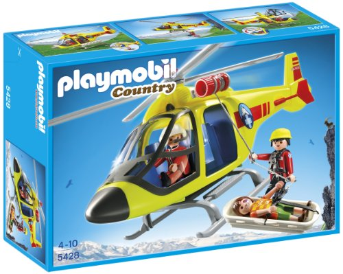 Playmobil Life in the Mountain - Helicopter for mountain rescue (5428)