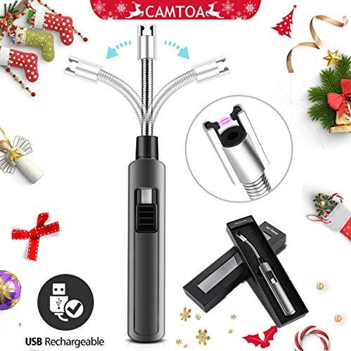 Lichtbogen Stabfeuerzeug,CAMTOA Feuerzeug USB wiederaufladbare lighter elektronisch Winddichte Flammenlose Feuerzeug Flammloses wiederaufladbare lighter Ideal für Grill, Küche, Herd und Camping