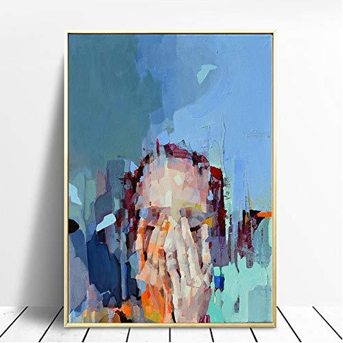 RTCKF Quadro su Tela Pittura Astratta su Tela Decorazioni per la casa Stampa Soggiorno Arte della Parete (Senza Cornice) A6 70x100cm