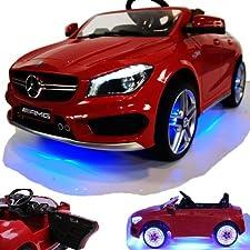 Original Lizenz Mercedes-Benz CLA45 mit enormer Ausstattung Ausstattung und Merkmale bei Kauf über CROOZA: Led Effekte auch an den Felgen und Unterboden, Soft-Start für ruckelfreies Anfahren, 4x Räder mit Federung, verstellbares Lenkrad und vieles m...