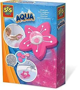 SES Creative Aqua Baño de Brillantina - Juegos, Juguetes y Pegatinas de baño (Set de Juegos para el baño, Niños, 3 año(s), Chica, Rosa, Países Bajos)