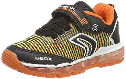 Geox Jungen J Android Boy A Sneaker, Schwarz (Black/Orange), 31 EU (Kids Orange Schuhe)