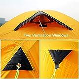 GEERTOP Alpine Campingzelt Trekkingzelt Kuppelzelt Zelt 20D Ultraleicht und Wasserdichte – 145 x 215 x 110 cm (2,59kg) – 2 Personen 3 Jahreszeiten Ideal für Camping Klettern Jagen (Rot) - 6