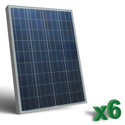 Conjunto de 6 Placa Solar Fotovoltaico 80W Total 480W Policristalino Placa Solar Fotovoltaico 80Wen silicio policristalino, ideal para abastecer a campistas, barcos, cabañas, casas de campo, sistemas de videovigilancia, puentes de radio, etc.  Cara...