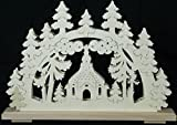 Schwibbogen Seiffener church 1 B x H= 50x35cm light sheet window decoration Erzgebirge wood