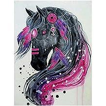 Diamond Painting, Nelnissa 5D DIY Diamond Painting kit di ricamo a punto croce a forma di testa di cavallo
