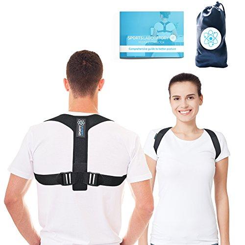 Foto de SPORTS LABORATORY Corrector de Postura Pro+ Unisex Soporte Ajustable Para Clavícula Bolsa Gratis