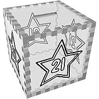 Preisvergleich für Azeeda '21 Stern' Klar Sparbüchse / Spardose (MB00051305)