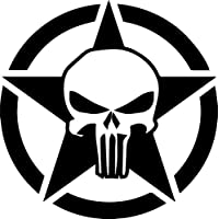 Punisher Hotrod Stern Auto Aufkleber Us Army Usa Militär Emblem große Version
