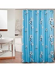 D G F Cortina de ducha de poliéster Baño de interior Nueva cortina de ducha a prueba de agua del ciruelo de la floración Multi-tamaño Opcional ( Tamaño : 100*180cm )