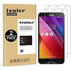 iVoler [Pack de 2] Verre Trempé pour ASUS ZenFone 2 5.5 Pouces Ze550ml / Ze551ml, Film Protection en Verre trempé écran Protecteur vitre