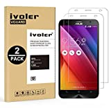 [Lot de 2] ASUS ZenFone 2 Ze550ml/Ze551ml Protection écran, VGUARD Film Protection d'écran en Verre Trempé Glass Screen Protector Vitre Tempered pour ASUS ZenFone 2 Ze550ml/Ze551ml 5.5''- Dureté 9H, Ultra-mince 0.20 mm, 2.5D Bords Arrondis- Anti-rayure, Anti-traces de doigts,Haute-réponse, Haute transparence- Garantie de Remplacement de 18 Mois