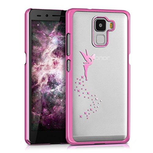kwmobile Huawei Honor 7 / Honor 7 Premium Hülle - Handyhülle für Huawei Honor 7 / Honor 7 Premium - Handy Case in Pink Transparent