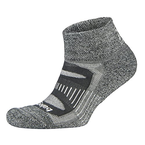 Balega Herren Blister Resist Quarter Sock, Charcoal, XL (Socken Comfort Low)