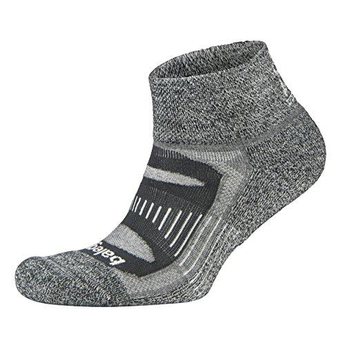 Balega Herren Blister Resist Quarter Sock, Charcoal, XL (Low Comfort Socken)