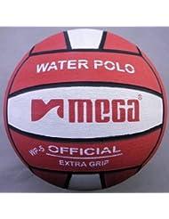 Water Polo Ball. Mega. Rojo y blanco diseño. Tamaño 5