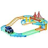 Exoticbuy Kinder DIY Multibahn Rail Car Racing Track Bausteine Lernspielzeug, LED, multi, 9.5 * 7.7 * 2.5CM